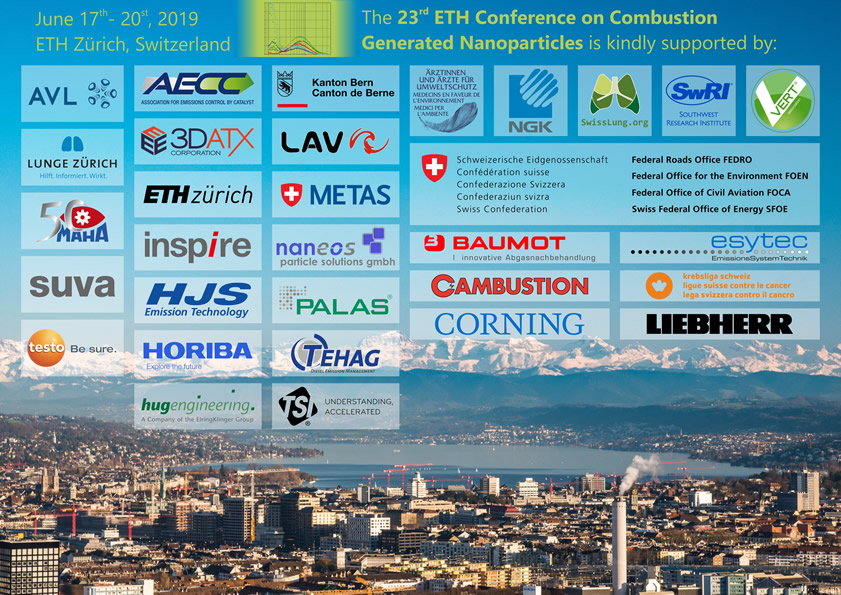 We are grateful to our Sponsors, 23rd ETH-Conference on Combustion Generated Nanoparticles
