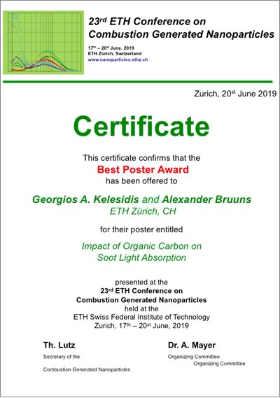 Certificate, 1st price