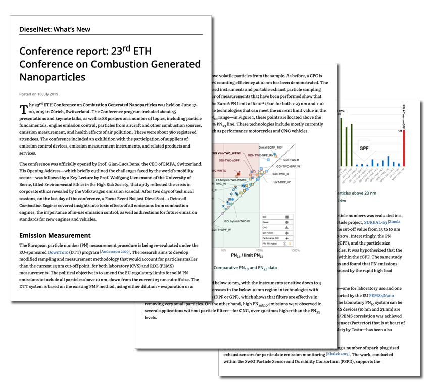 Article published in DieselNet, July 2019: Conference report: 23rd ETH Conference on Combustion Generated Nanoparticles